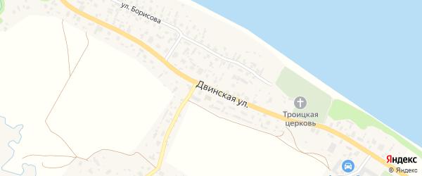 Двинская улица на карте села Красноборска с номерами домов