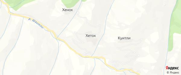 Карта села Хетоха в Дагестане с улицами и номерами домов
