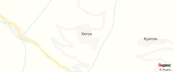 Улица Мирзоева Магомеда Важуевича на карте села Хетоха с номерами домов