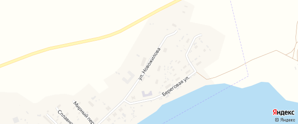 Улица Новожилова на карте поселка Дябрино с номерами домов