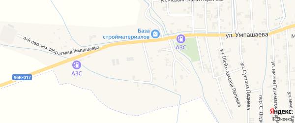 Переулок 1-й Умпашаева на карте села Автуры с номерами домов