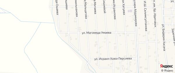 Улица Халида Ошаева на карте села Автуры с номерами домов