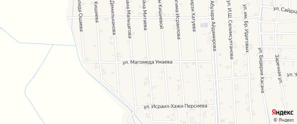 Улица Магомеда Умаева на карте села Автуры с номерами домов