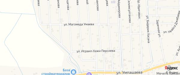 Улица Кунта-Хаджи Кишиева на карте села Автуры с номерами домов