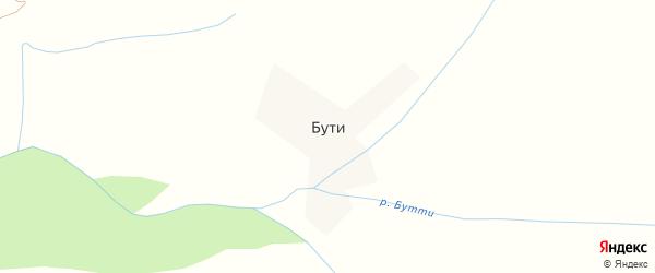 Лесная улица на карте села Бути с номерами домов