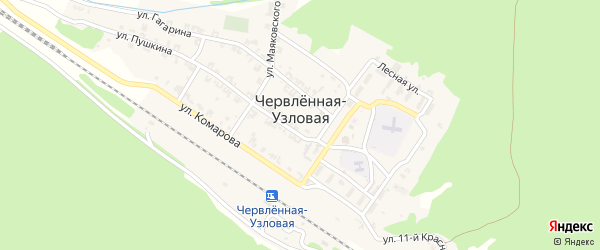 Улица 11 Красной Армии на карте Червленная-Узловой станицы с номерами домов
