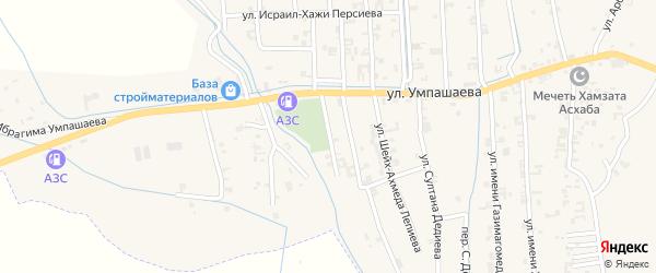 Улица И.Умпашаева на карте села Автуры с номерами домов