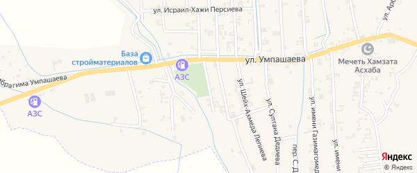 Переулок 3-й Умпашаева на карте села Автуры с номерами домов