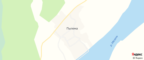 Карта деревни Пылемы в Архангельской области с улицами и номерами домов