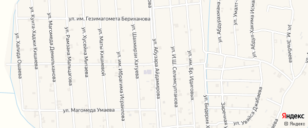 Улица Шахмирзи Хатуева на карте села Автуры с номерами домов