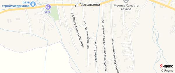 Улица Султана Дедиева на карте села Автуры с номерами домов