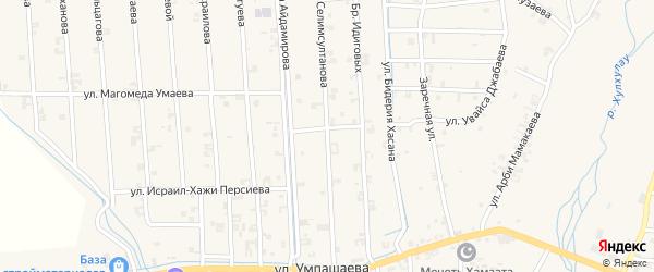 Улица Абузара Айдамирова на карте села Автуры с номерами домов