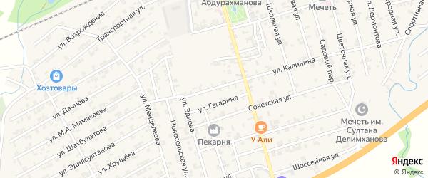 Улица Калинина на карте села Джалка с номерами домов