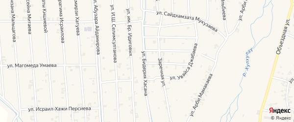Улица Бидерия Хасана на карте села Автуры с номерами домов