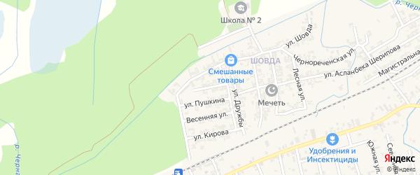 Улица Висаитова на карте села Джалка с номерами домов