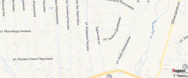 Улица Увайса Джабаева на карте села Автуры с номерами домов