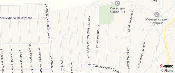 Улица Абухаджи Идрисова на карте села Автуры с номерами домов