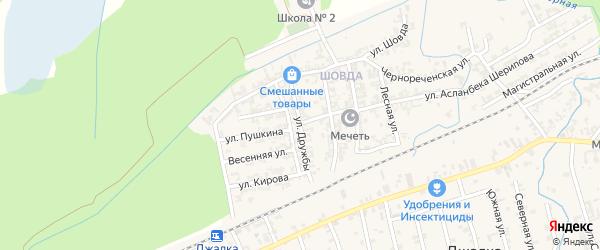 Улица Дружбы на карте села Джалка с номерами домов
