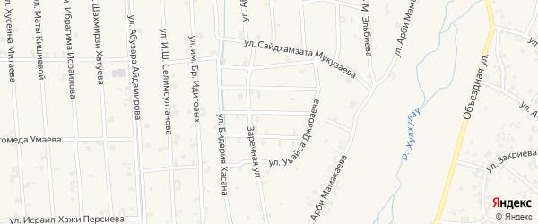 Улица Абдул-Азиза Шаптукаева на карте села Автуры с номерами домов