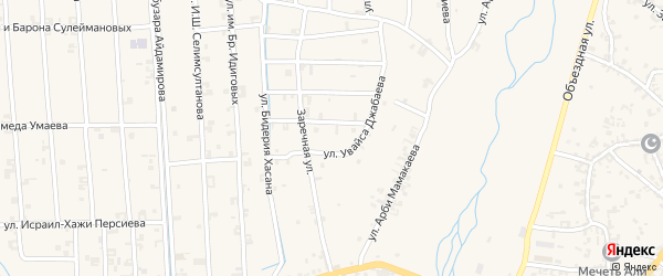 Улица Хуты Ахмархаджиева на карте села Автуры с номерами домов