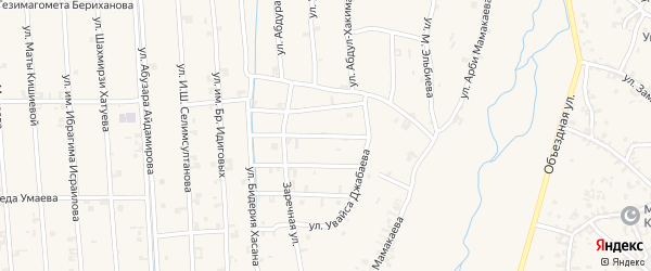 Улица Мовлида Висаитова на карте села Автуры с номерами домов