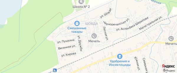 Центральная улица на карте села Джалка с номерами домов