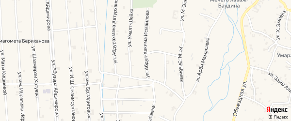 Улица Умалт-Шейха на карте села Автуры с номерами домов