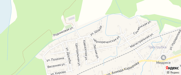 Чернореченская улица на карте села Джалка с номерами домов