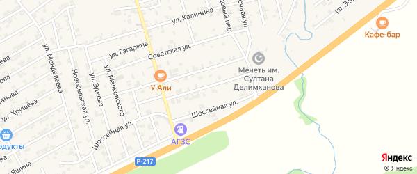 Молодежная улица на карте села Джалка с номерами домов