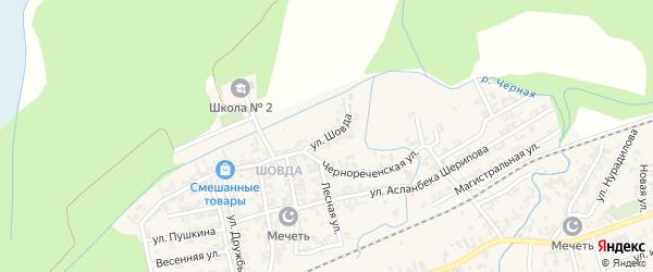 Улица Шовда на карте села Джалка с номерами домов