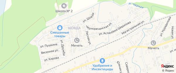 Лесная улица на карте села Джалка с номерами домов
