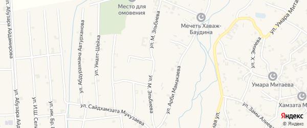 Улица им М.Эльбиева на карте села Автуры с номерами домов