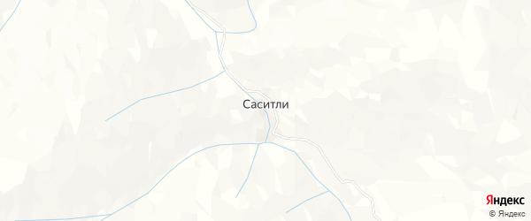 Карта села Саситли в Дагестане с улицами и номерами домов