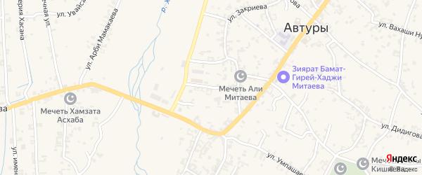 Переулок Хусейна Эльдарова на карте села Автуры с номерами домов