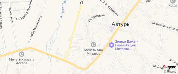 Улица Ш.Закриева на карте села Автуры с номерами домов
