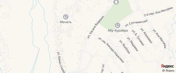 Улица им Хусайна-Хасана Али-Мансура Бидерий на карте села Автуры с номерами домов