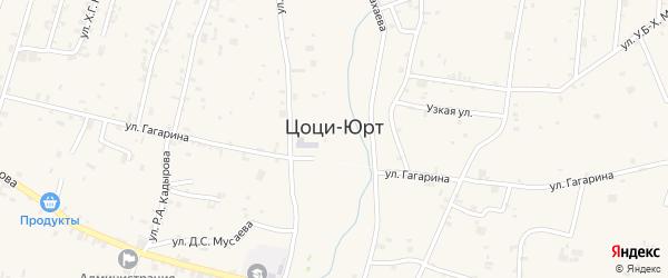 Улица Заудина Баматгереева на карте села Цоци-Юрт с номерами домов