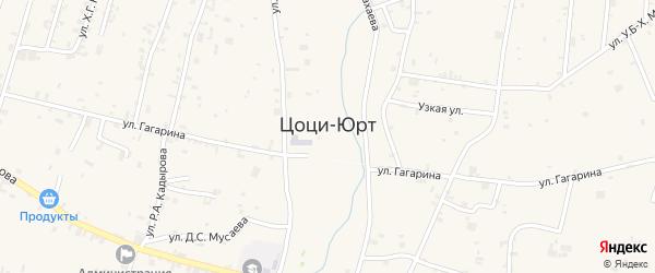 Улица Бадала Абубакарова на карте села Цоци-Юрт с номерами домов