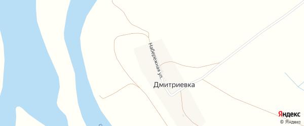 Набережная улица на карте села Дмитриевки с номерами домов