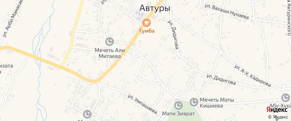 Улица Али-Митаева на карте села Автуры с номерами домов