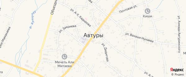 Кооперативная улица на карте села Автуры с номерами домов
