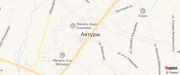 Улица Ленина на карте села Автуры с номерами домов