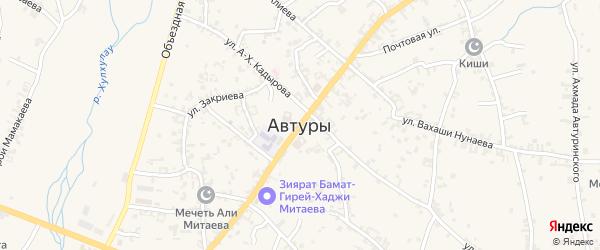 Улица им Бамат-Гирей- Хаджи на карте села Автуры с номерами домов