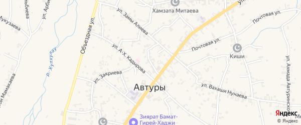 Улица им Камалдин Халидова на карте села Автуры с номерами домов