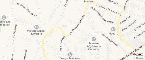 Улица им Умара Митаева на карте села Автуры с номерами домов