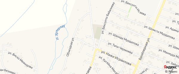 Переулок Мовсара Кишиева на карте села Автуры с номерами домов