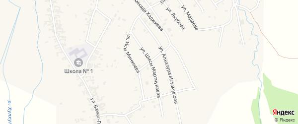 Улица Исы Минкеева на карте села Автуры с номерами домов
