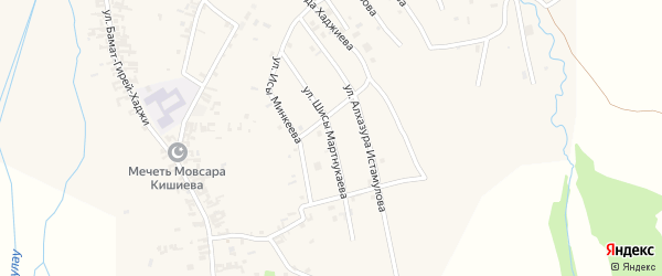 Улица им Ш.Мартнукаева на карте села Автуры с номерами домов