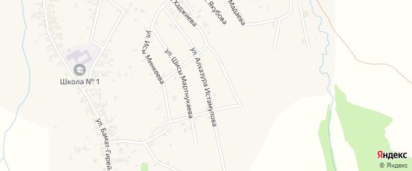Улица Алхазура Истамулова на карте села Автуры с номерами домов