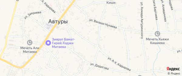 Улица Сутаева на карте села Автуры с номерами домов